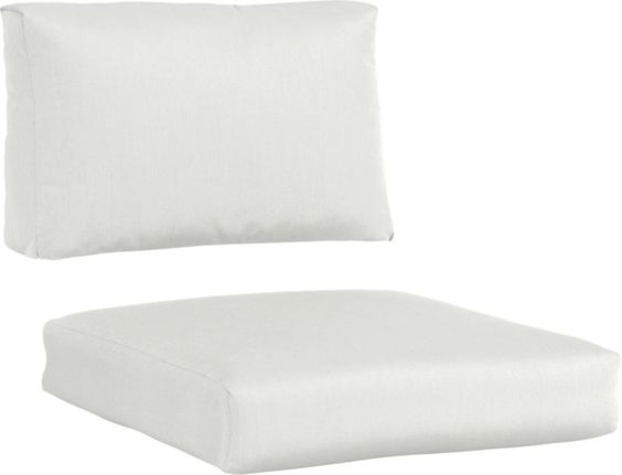 Attractive White Outdoor Cushions