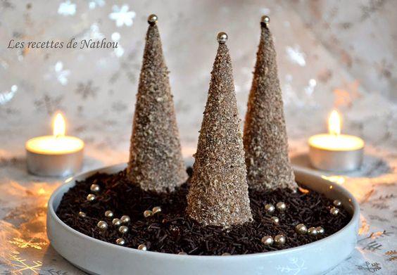 Les recettes de Nathou: Sapins de Noël en chocolat, fourrés à la mousse de...