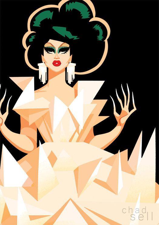 Kim Chi  Origami Postcard by ChadSellComics on Etsy