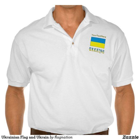 Ukrainian Flag and Ukrain Polo Shirt