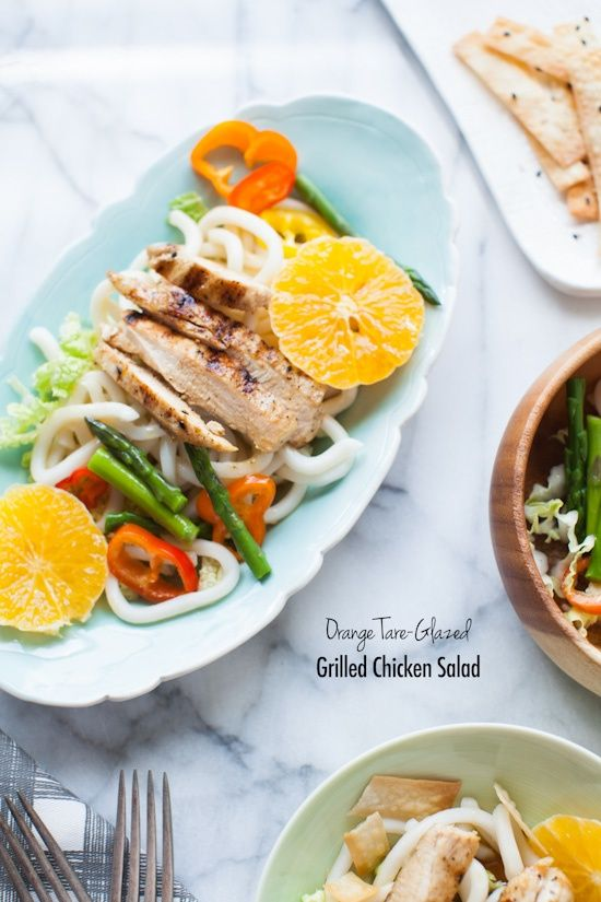 Orange Tare-Glazed Grilled Chicken Salad - The Little Kitchen for BHG