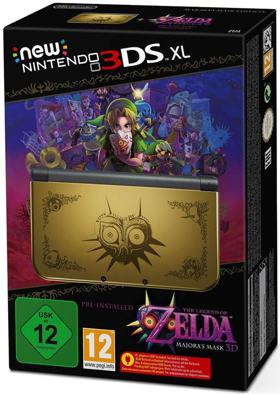 New 3DS XL Zelda Majora's Mask 3D Édition collector.