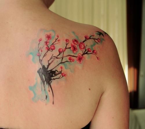 Image Result For Japanese Watercolor Tattoo Cherry Blossom