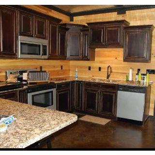 Mocha Distressed Rustic Kitchen Cabinets | craft ideas | Pinterest ...