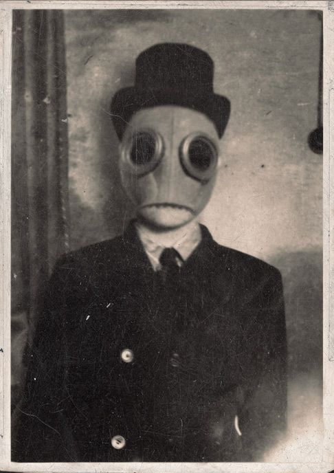 Weird Black And White Art : Odd oddities masks scary creepy weird history