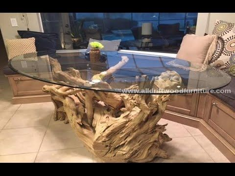 Driftwood Dining Table Base For 48 Glass Top Driftwood Dining