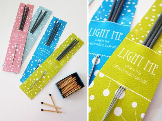 Sparkler packaging for wedding