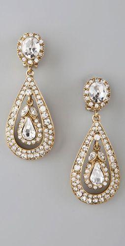Kenneth Jay Lan Antique drop earrings-- wedding earrings?