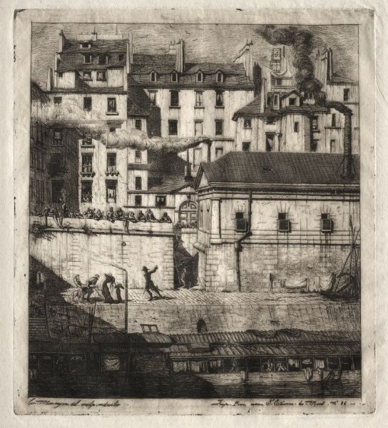 Etchings of Paris: The Mortuary | Cleveland Museum of Art    1937.633