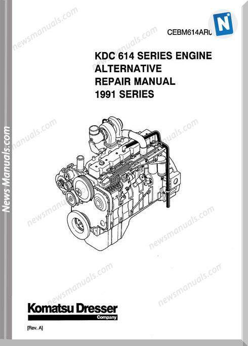 Komatsu Repair Manual Of 614 Series Engine Repair Manuals Komatsu Manual