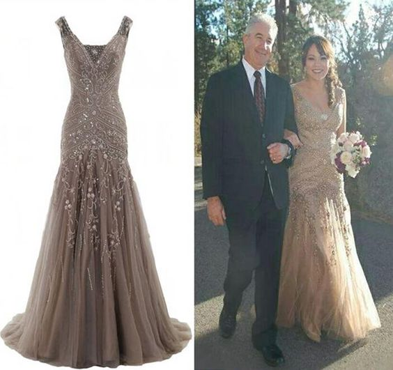 Find More Evening Dresses Information about 2016 Sexy Elegant V neck Mermaid Wedding Dress Lace Up Evening Dress Luxury Full Beaded Formal Gowns Vestidos De Festia,High Quality dress berry,China dress wicked Suppliers, Cheap dress braid from Sweety-Bridal on Aliexpress.com