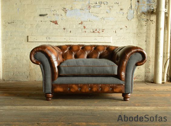 Naunton Leather Chesterfield Snuggle Chair Upholstered Furniture