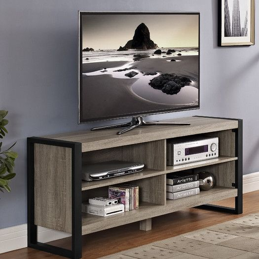"$189 Mercury Row Urban TV Stand. 24"" H x 58"" W x 16"" D"