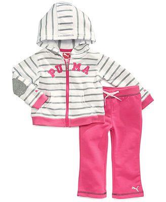 Puma Baby Girls' 2-Piece Hoodie & Pants Set