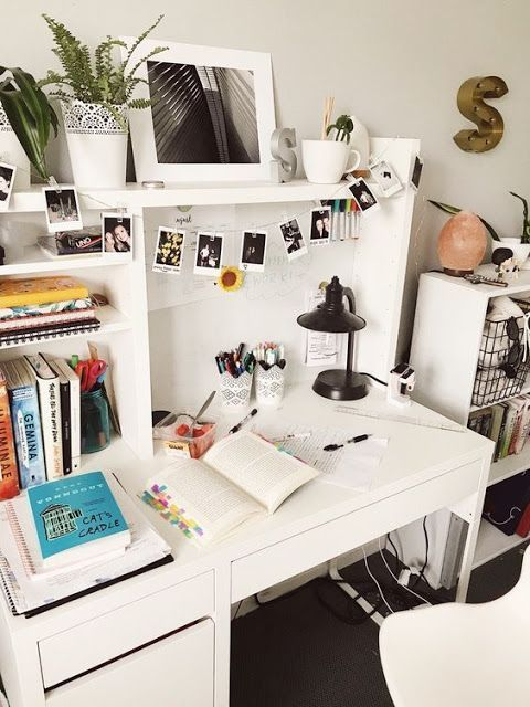 30 Desk Decor Ideas To Make Your Home Office Home Decor Photo Wall Collage In 2020 Study Room Decor Bedroom Desk Organization Home Desk
