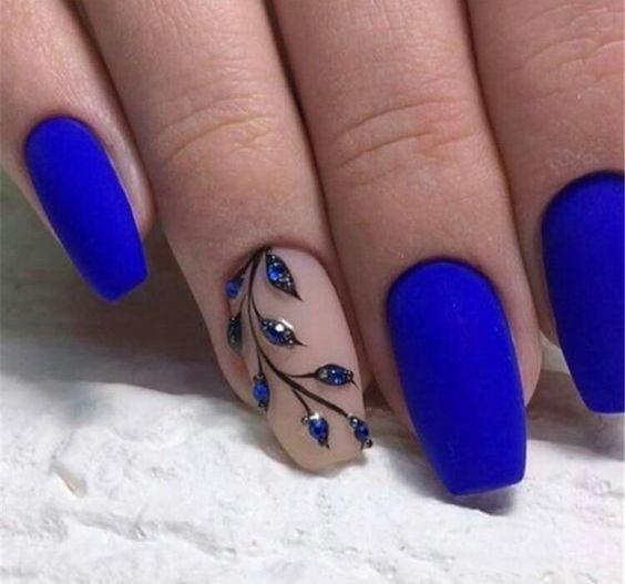 40 Trendy 2019 Dark Blue Nail Art Designs Sumcoco Blog