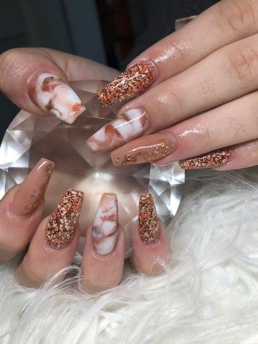 Coffin Gel Nail Designs For Fall 2019