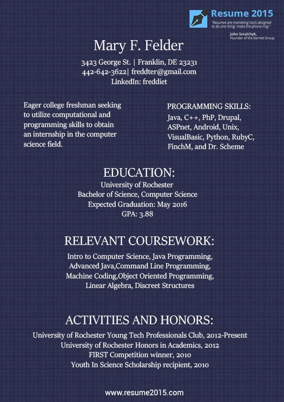Student Resume Samples for 2015 http\/\/wwwresume2015\/student - walk me through your resume example