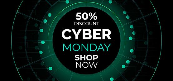 Cyber Monday Sale Banner Template With Glowing Dots In 2020 Cyber Monday Shopping Sale Banner Background Design