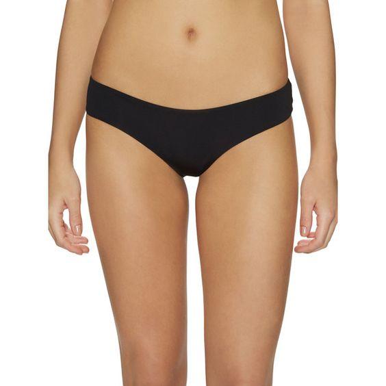 La Perla Swim Women's Solid Brazilian Bikini Brief - Black - Size 42 ($119) ❤ liked on Polyvore featuring intimates, panties, black, la perla, brazilian panty, brazilian style bikini bottoms, tanga bikini bottom and brazilian bikini