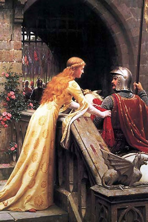 Godspeed Fair Knight, by Edmund Blair Leighton: