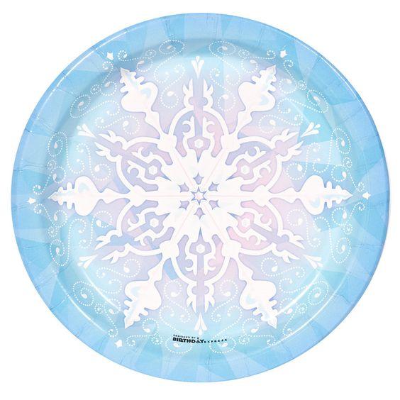 Snowflake Winter Wonderland Dessert Plates (8)