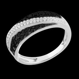 Bague Révélation - Or blanc 9 carats et diamants 0.80 carat