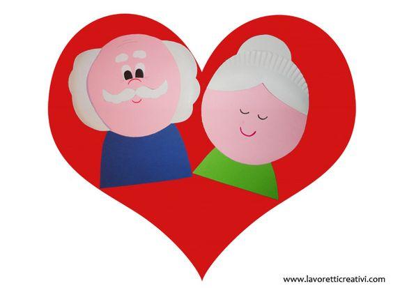 Il 2 Ottobre si celebra la Festa dei Nonni un'occasione per regalare ai vostri cari nonni un simpatico biglietto da realizzare con i fogli di carta colorat