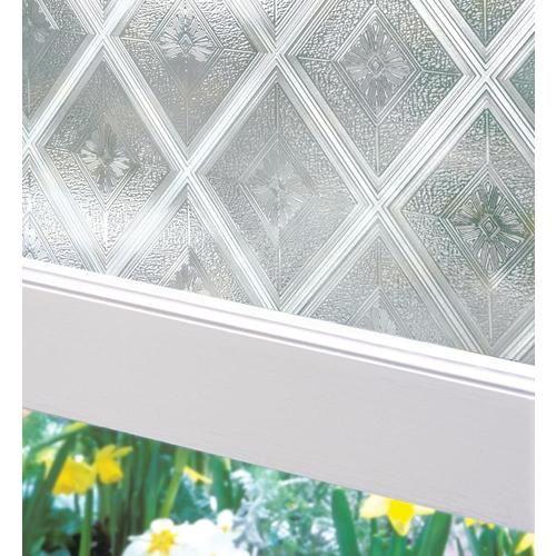 Artscape Diamond Glass 24 In X 36 In Diamond Glass Geometric Privacy Decorative Window Film Lowes Com In 2021 Decorative Window Film Diy Frosted Glass Window Stained Glass Window Film