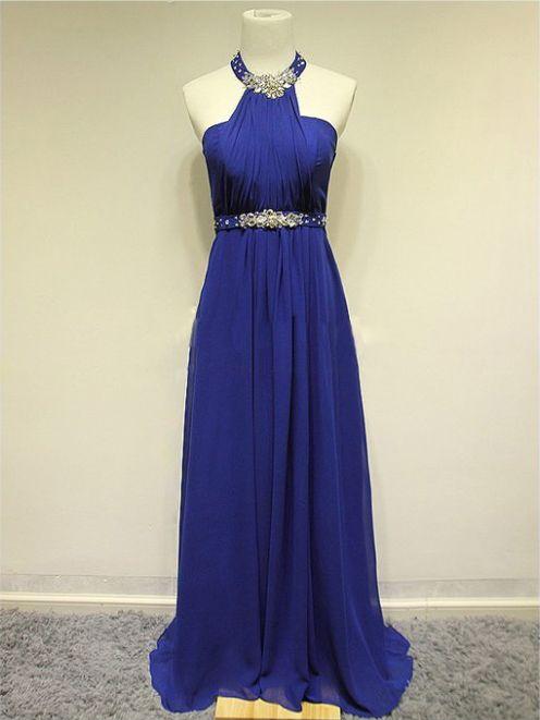 Fashion Halter Silm Floor-Length Bridemaid / Evening dress