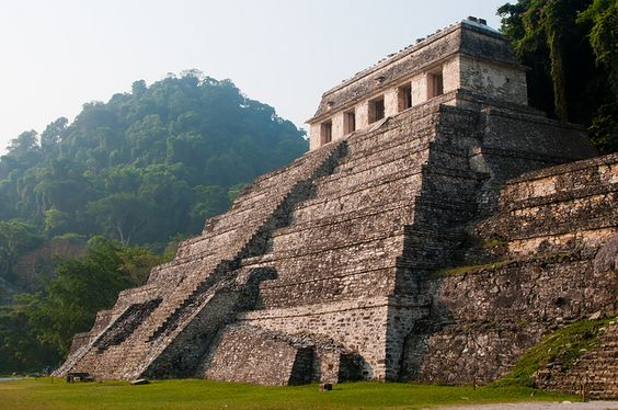 The Palenque ruins in Palenque, Mexico. If you get there early enough, you have the entire place to yourself!
