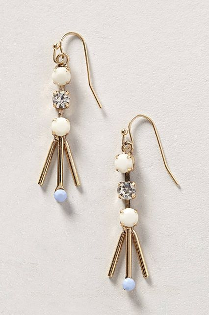 THIS Is How To Dress At Work #refinery29  http://www.refinery29.com/stylish-work-outfits#slide7  There will be no sore earlobes on our watch. Chose danglers that won't weigh you down, like these lightweight, chandelier-style earrings that'll feel barely there.