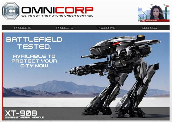 OmniCorp website launches to promote new RoboCop movie