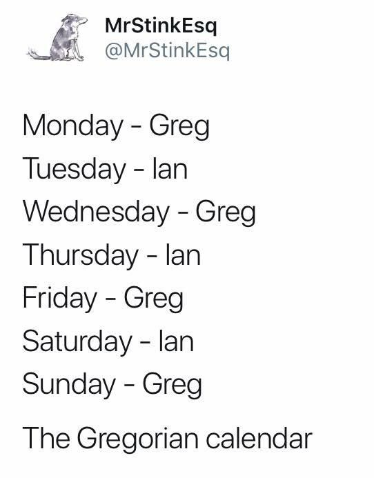 The Gregorian Calendar Just For Laughs Puns Jokes Dad Jokes
