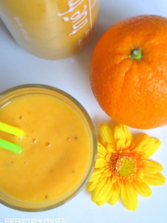 Rezepte mit Herz ♥: Orange Winter Smoothie
