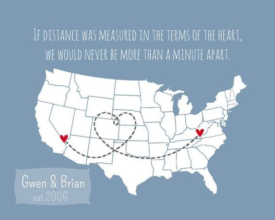 Long Distance Boyfriend Gift Personalized Husband Gift Fiance Military Deployment for Husband Wife Quote Love State U.S. Country World Map