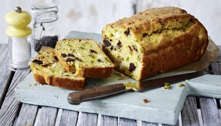 Cheese, pistachio and prune cake...VIDEO... Savoury cakes are very popular in France, they appear in boulangeries and with a side salad on lunch menus in chic cafés, but they're most likely to appear at a picnic. They are super-simple to make and can be adapted to use whatever leftovers you have in your fridge – just follow the basic batter recipe and get creative with the fillings! Less than 30 mins preparation time... 30 mins to 1 hour cooking time..