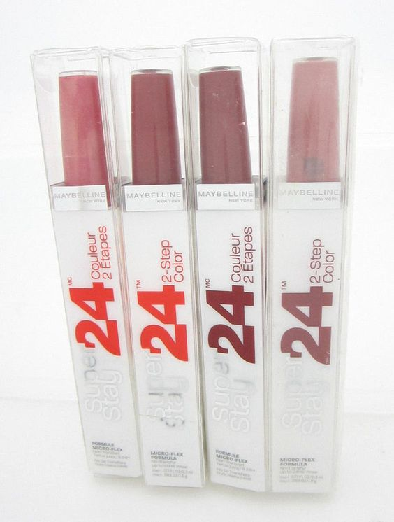 Maybelline Lipstick Red/ Brown SuperStay 24 Hour Lipcolor #020 #025 #125 #50 Set of 4 #Maybelline #superstay #continouscoral #keepuptheflame #sosienna #timelesstoffee
