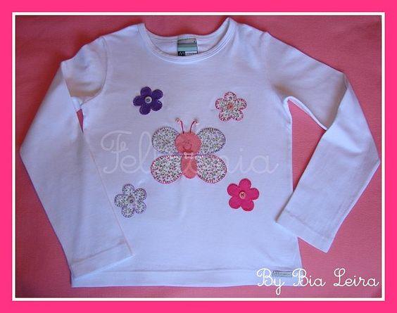 Blusinha decorada!!! by Feltronia by Bia Leira, via Flickr