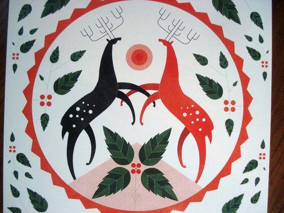 Moderne Hex Zeichen  - das sind vor allem Runde Zeichen von den Pennsylvania Dutch, die Hof und Gut beschützen sollten.