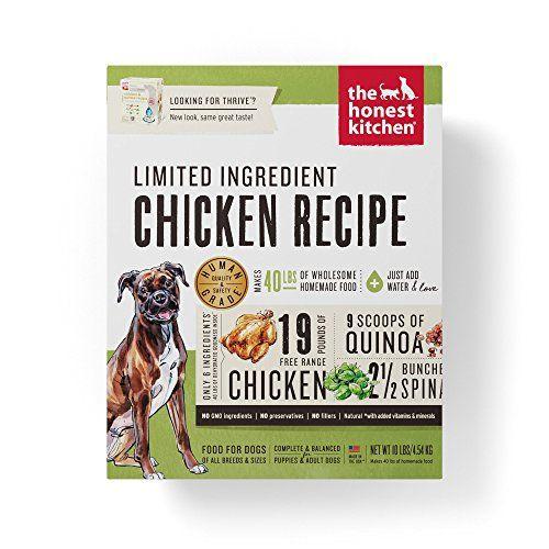 The Honest Kitchen Limited Ingredient Chicken Dog Food Recipe
