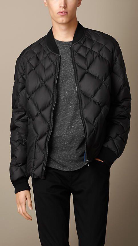 Burberry Brit Multi Quilt Bomber Jacket Quilted Bomber Jacket Mens Outdoor Jackets Leather Jacket Men
