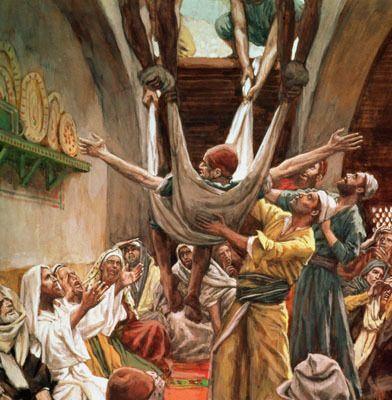 Barátok Jézushoz viszik beteg társukat