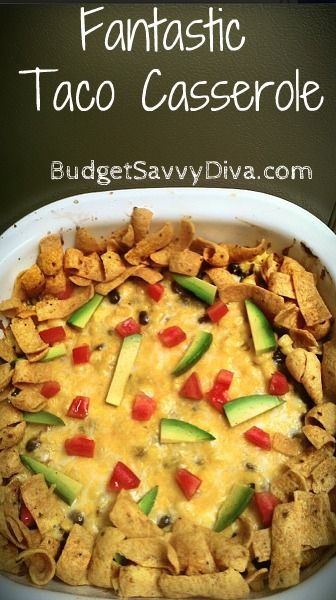 This is one dish that lives up to the title. Done and on the table in 30 minutes.: Recipes Casseroles, Food Casseroles, Yummy Food, Mexican Food, Yummy Casserole, Gluten Free Tacos, 30 Minutes, Casserole Recipes