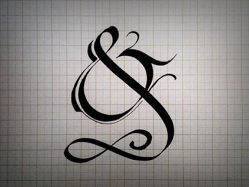 Elaborate Calligraphy Ampersand Typography Ampersand