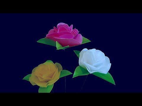 Cara Membuat Bunga Mawar Dari Plastik Kresek Flower Mawar Plastic Bag Youtube Bunga Mawar Plastik