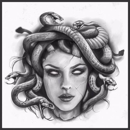 Medusa Tattoo Tattoo Contest Sponsored Design Tattoo Contest Theophileeliet Tatuajes De Mitología Tatuajes De Medusas Tatuajes Mitologia Griega