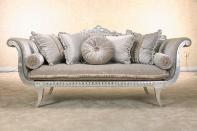 Beautiful Grey Crushed Velvet Sofa With A Silver Plated Crown T The Back Cottage Lounge Pinterest Living Rooms House And Room