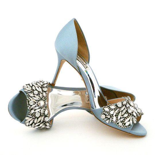 Badgley Mischka Hansen Crystal Blue Shoes Blue Wedding Shoes