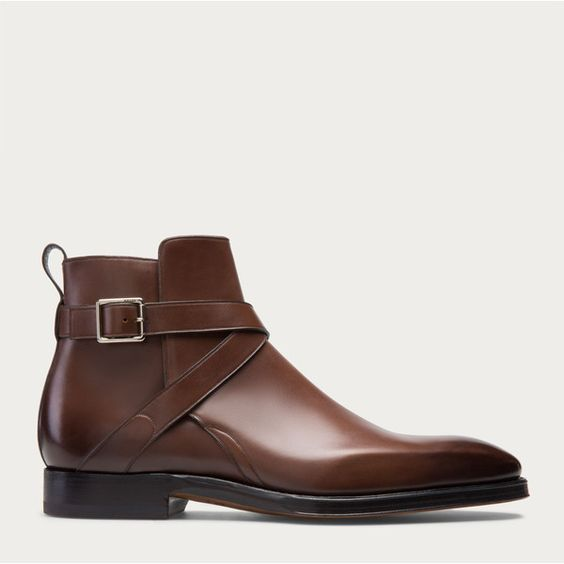 Bally SCLAVI Men´s leather boot in Mid Brown ($1,050) ❤ liked on Polyvore featuring mens, men's shoes and men's boots